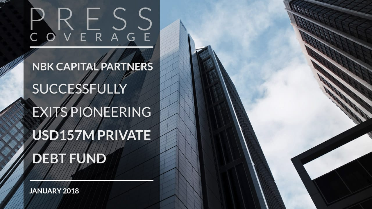 NBK Capital Partners successfully exits pioneering $157m private debt fund