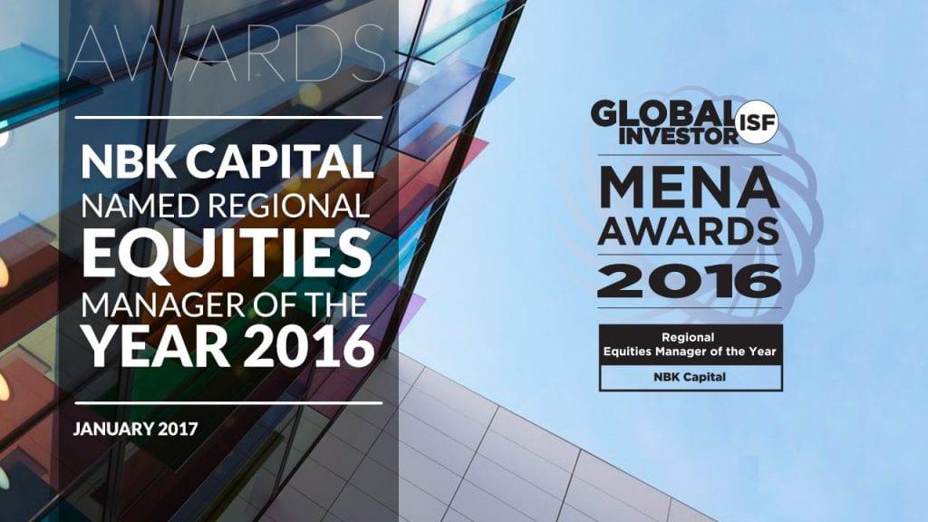 NBK Capital - Award Regional Equities Manager 2016