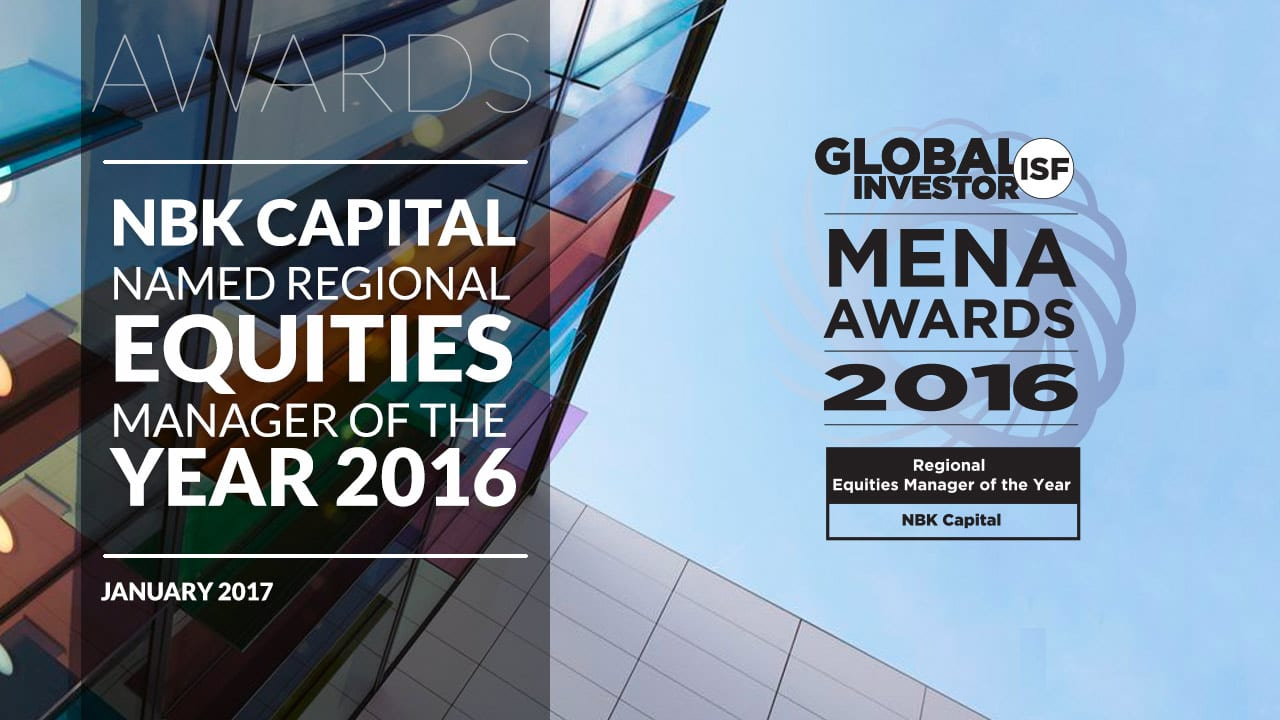 NBK Capital named Regional Equities Manager of the year 2016