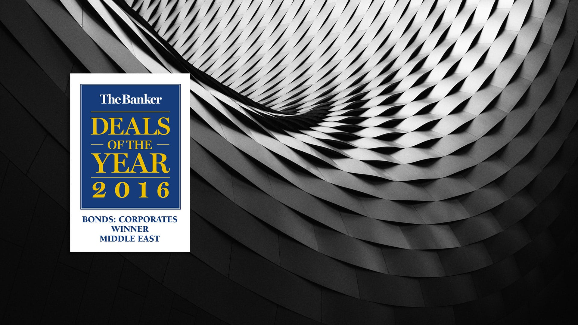 NBK Capital awarded the Deal of the Year 2016 – Bonds: Corporate Winner from The Banker Magazine