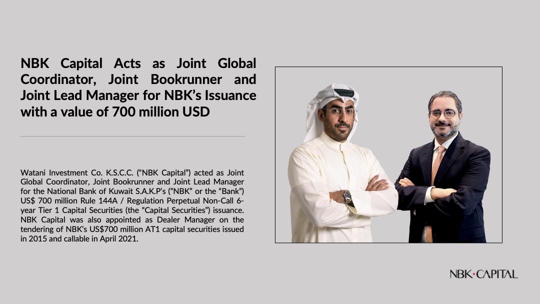 NBK Capital  Acts as Dealer Manager for NBK's Tender Offer